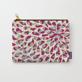 Organic Petals Pattern Magenta Gray Carry-All Pouch