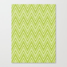 Lime Skinny Chevron Canvas Print