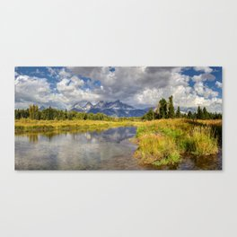 The Grand Tetons Panorama Canvas Print