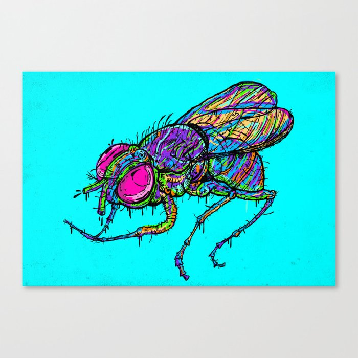 EVIL FLY Canvas Print