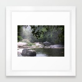 Raining in Geochang Framed Art Print