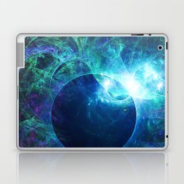 Abstract colorful shiny print graphic with planet space Laptop & iPad Skin