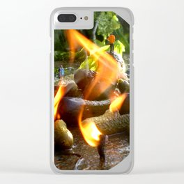The Trickle Down (This Burning World 4) Clear iPhone Case