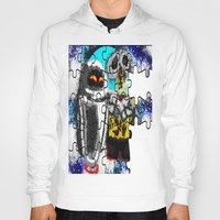 wall e Hoodies featuring Puzzle me Wall-e  by grapeloverarts