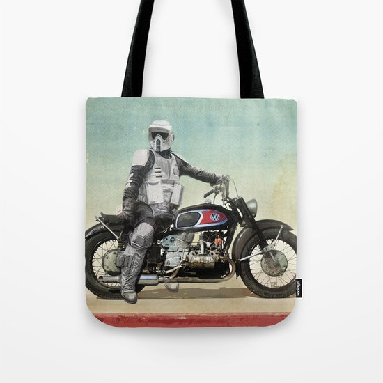 Looking for the drones, Scout Trooper Motorbike Tote Bag