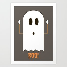 You Look Like You've Seen  A Ghost Art Print