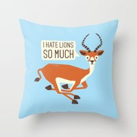 thrones Throw Pillows featuring Prey Tell by David Olenick