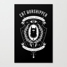 Cat Worshipper Canvas Print
