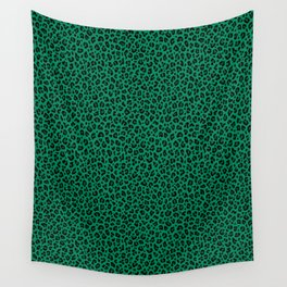 LEOPARD PRINT in GREEN | Collection : Leopard spots – Punk Rock Animal Print Wall Tapestry