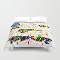 lebron Duvet Covers featuring Young Life by SaintCastro