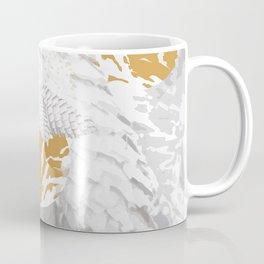 White Spruce Cones With Golden Balls Winter Illustration #decor #society6 #buyart Coffee Mug