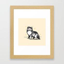 A Very Good Boy (Cream) Framed Art Print
