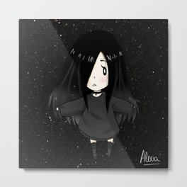 Alexia Chan in the middle of the galaxy Metal Print