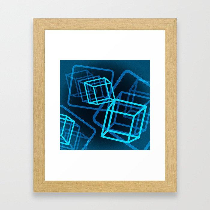 Boxing the blues Framed Art Print