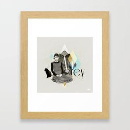 Divas: Audrey Hepburn. Framed Art Print