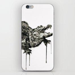 Alligator Black and White iPhone Skin