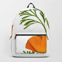 Photo of a Golden Poppy in a Circle Backpack