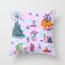 Space Ladies Throw Pillow