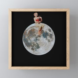 Right on Top of the Moon Framed Mini Art Print