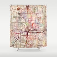 atlanta Shower Curtains featuring Atlanta by MapMapMaps.Watercolors