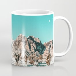 Vintage Lovers Cacti // Red Rock Canyon Mojave Nature Plants and Snow Desert in the Winter Coffee Mug