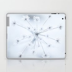 Beautiful Dry Flower with Ice Crystals Laptop & iPad Skin