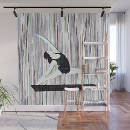 Yoga Glitch Wall Mural