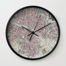 Paris Street Map Wall Clock