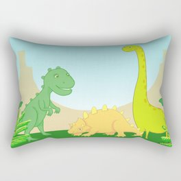 Friendly dinosaurs Rectangular Pillow
