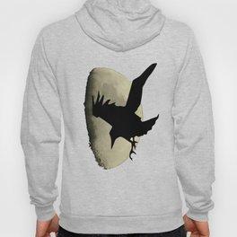 Raven Flying Across The Moon Hoody