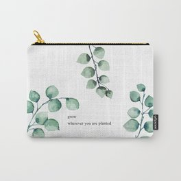 Grow wherever you are planted watercolor florals Carry-All Pouch