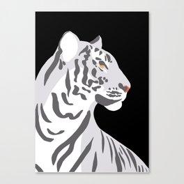 Tiger - Grey Canvas Print
