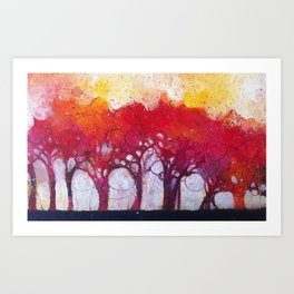 Alberi nel bosco Art Print