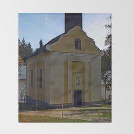 The pilgrim church of Maria Bruendl I | architectural photography Throw Blanket