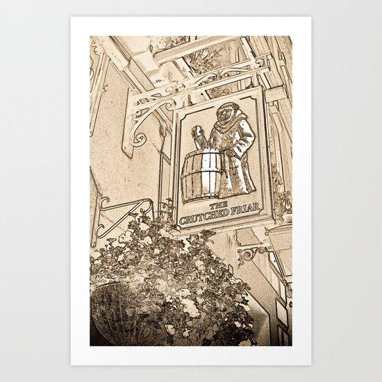 The Crutched Friar Pub London Art Print