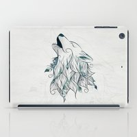 wolf iPad Cases featuring Wolf by LouJah