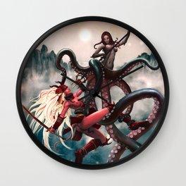 Samurai-Sugar vs. Octopussy Wall Clock