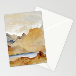 Cinnabar Mountain Yellowstone River Watercolour 1871 By Thomas Moran | Watercolor Reproduction Stationery Cards
