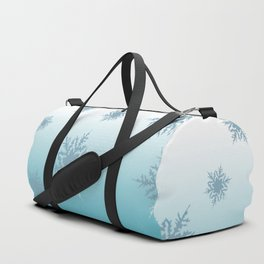 A Chilly Frozen Winter at Christmas Time in the Snow Duffle Bag