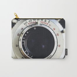 Close-Up Photo of Vintage Camera Carry-All Pouch
