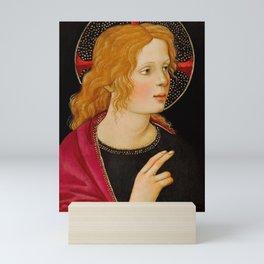 "Alessandro Botticelli ""Christ with Saint John the Baptist"" detail 2. Mini Art Print"