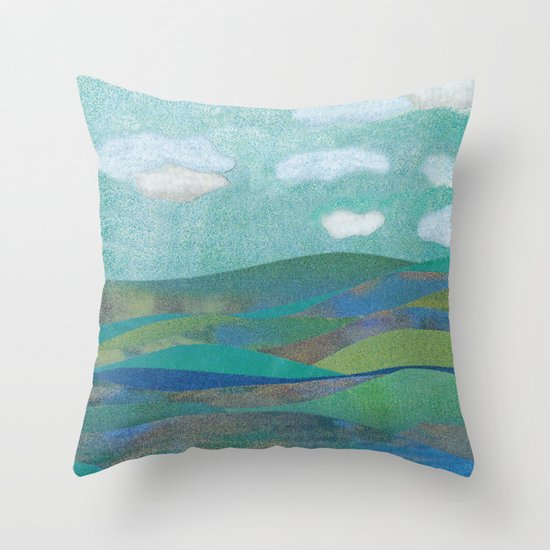 COLLAGE LOVE: Seascape Throw Pillow