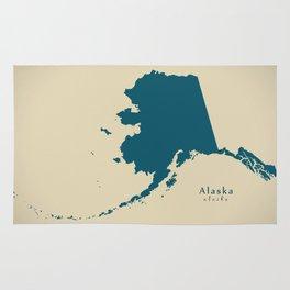 Modern Map - Alaska map USA illustration refreshed design Rug