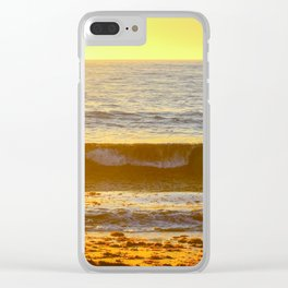 Golden Curl Clear iPhone Case