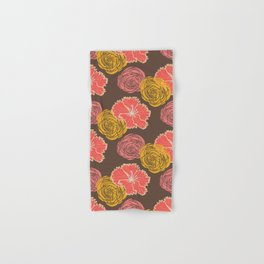 floral chocolate color Hand & Bath Towel