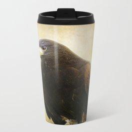 A Harris Hawk Travel Mug
