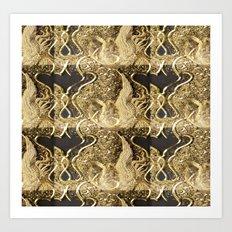 Golden Threads Art Print