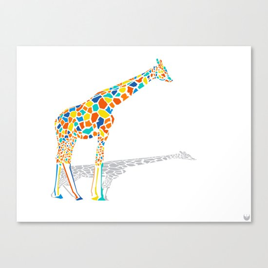Technicolor Giraffe Canvas Print