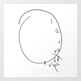 Savoureux - Hannibal Clock Art Print