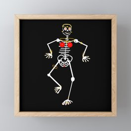 Skeleton Mumu Tooth Gold Framed Mini Art Print